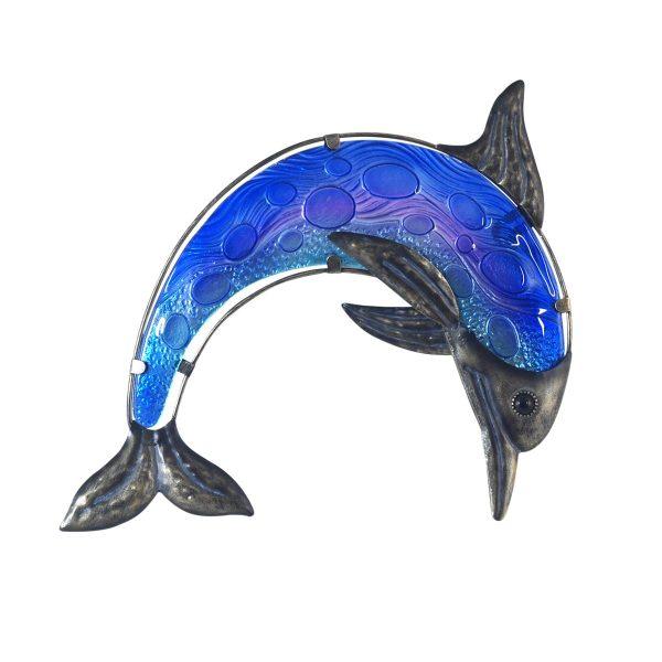 Dolfijn van glas en metaal