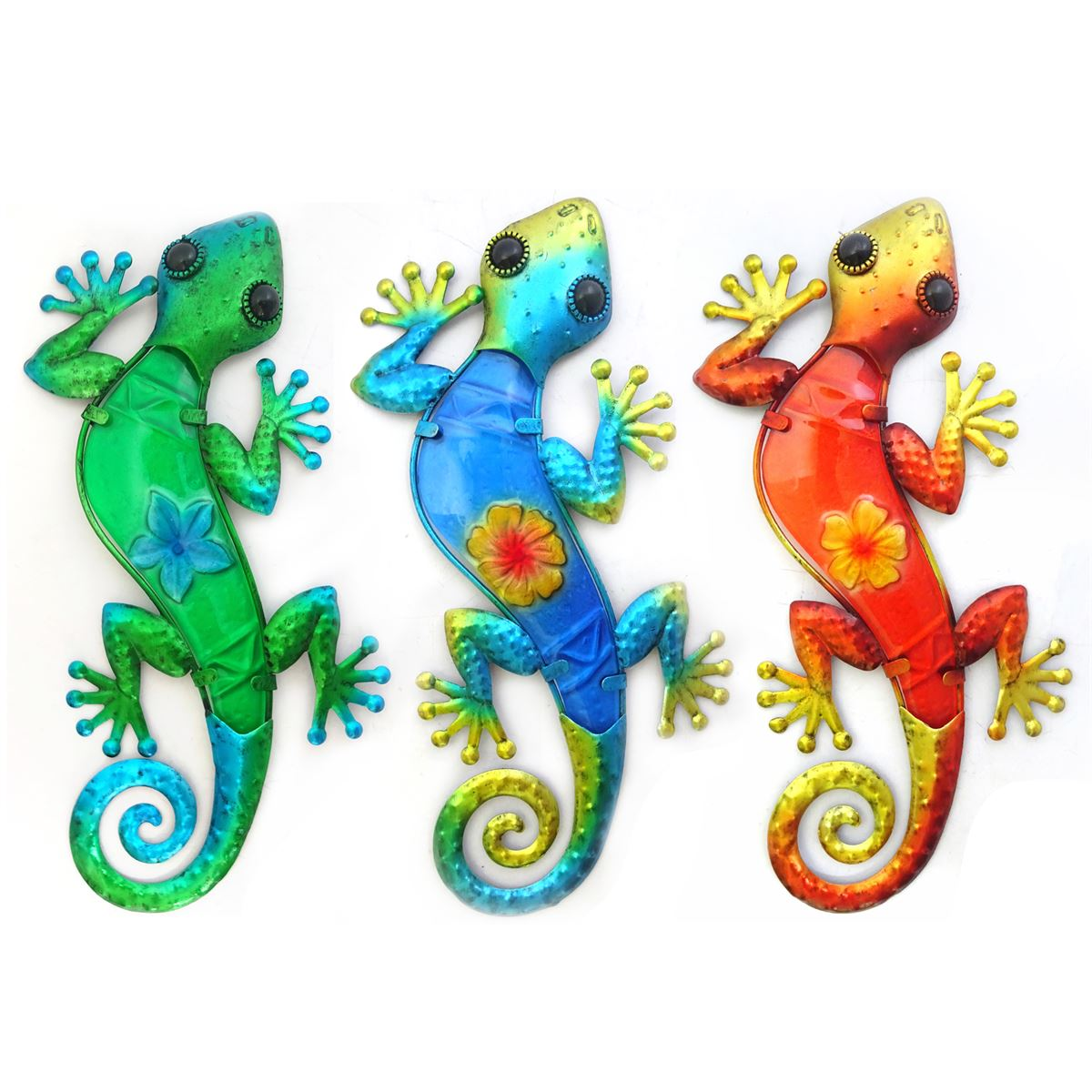 Wanddecoratie salamders in verschillende kleuren maat L