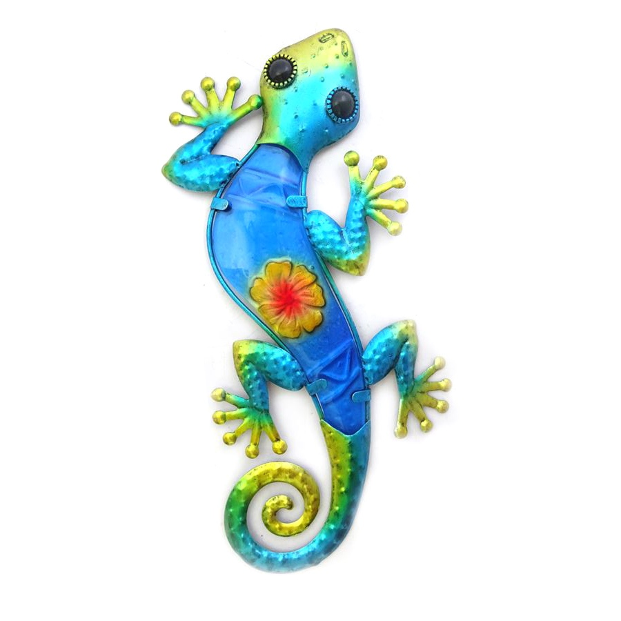 Wanddecoratie salamander blauw l