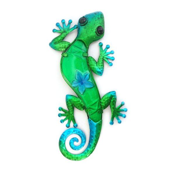 wanddecoratie salamander groen L