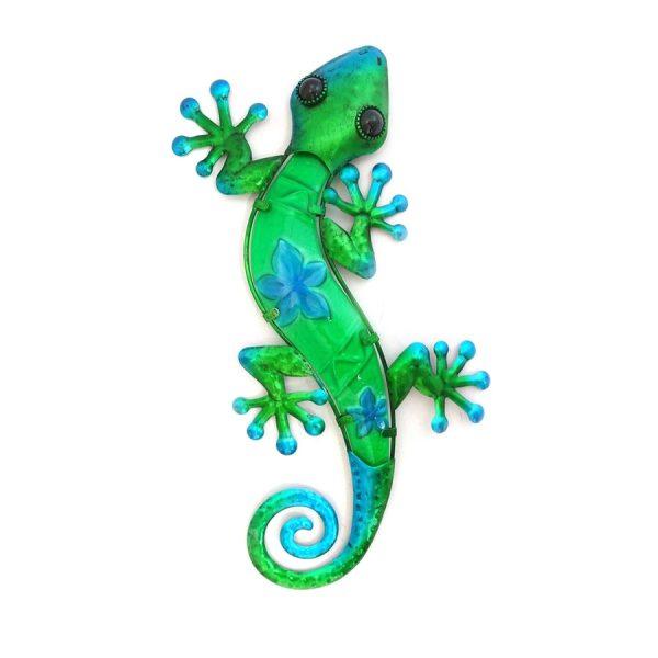 Wanddecoratie salamander bloem XL groen