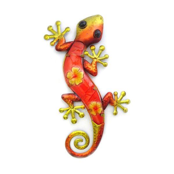 Wanddecoratie salamander bloem XL
