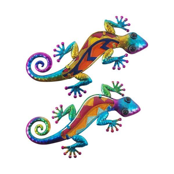 Wanddecoratie salamander variatie meerdere kleuren voor in de tuin