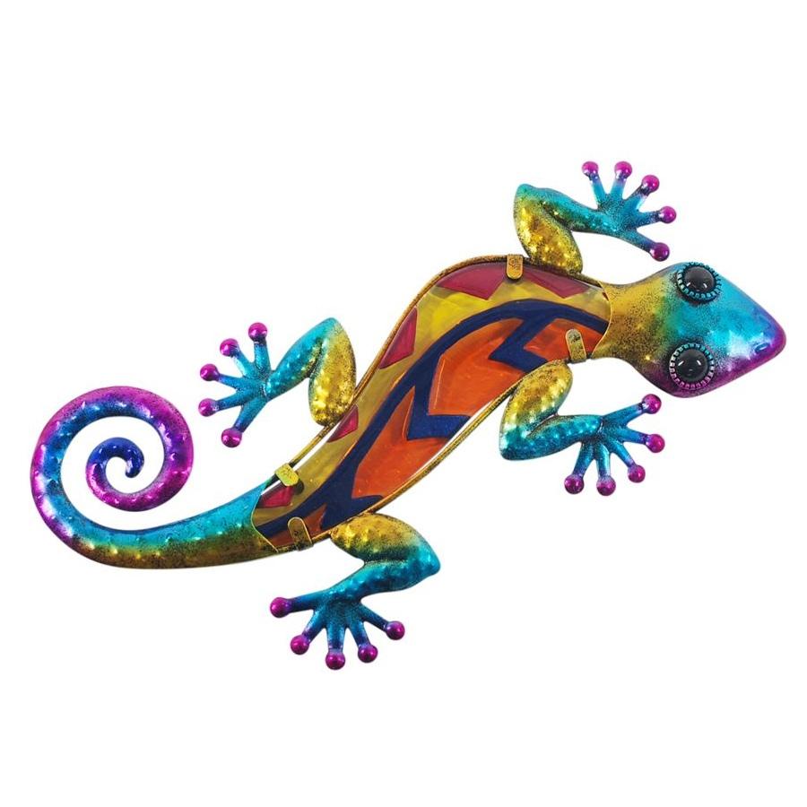 wanddecoratie salamander blauw maat L