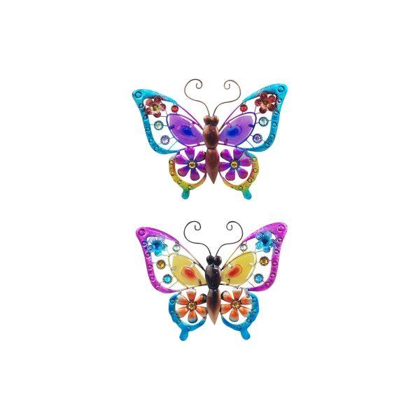 wanddecoratie vlinders diverse vrolijke kleuren maat L