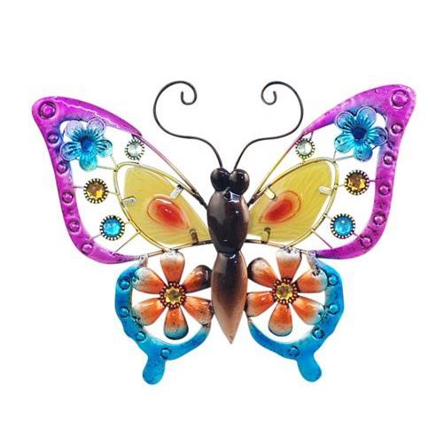 wanddecoratie vlinder maat L oranje