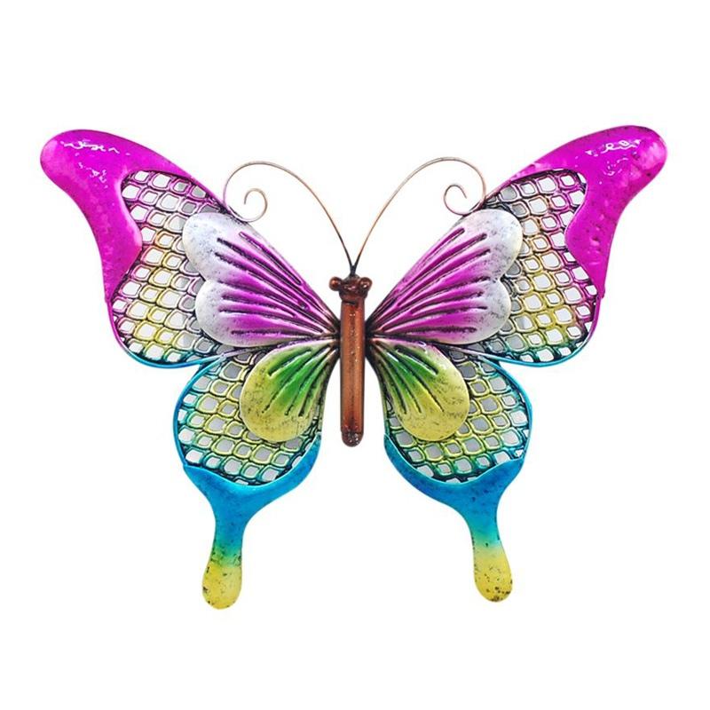 Vlinder van metaal L