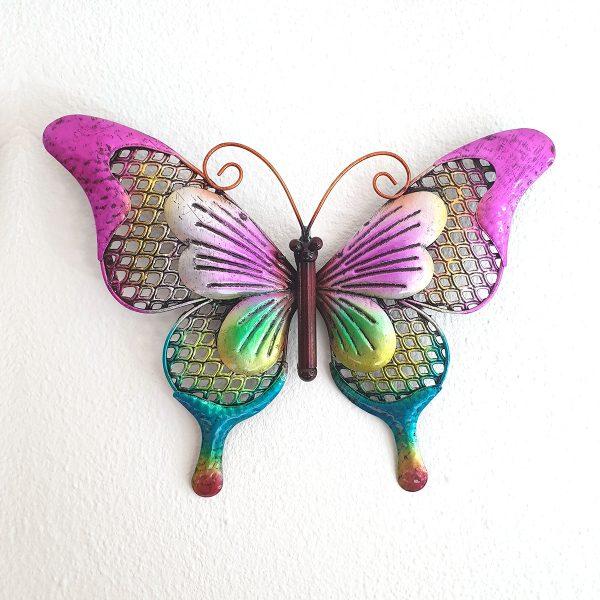 vlinder metaal paars l foto