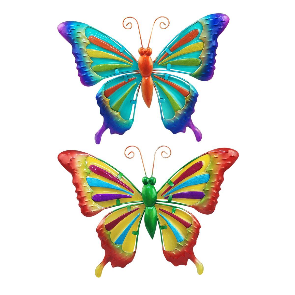 vlinder splash twee kleuren