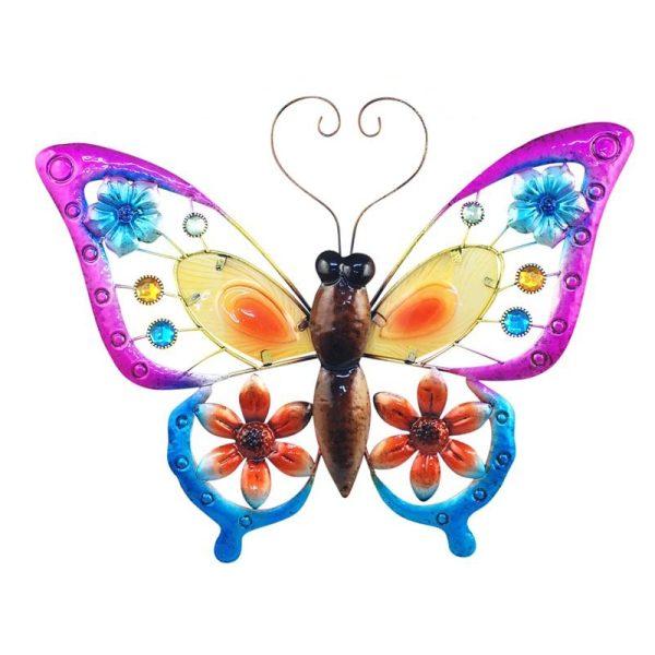 Wanddecoratie vlinder XL groot diverse kleuren