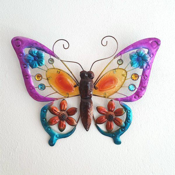 vlinder oranje xl foto