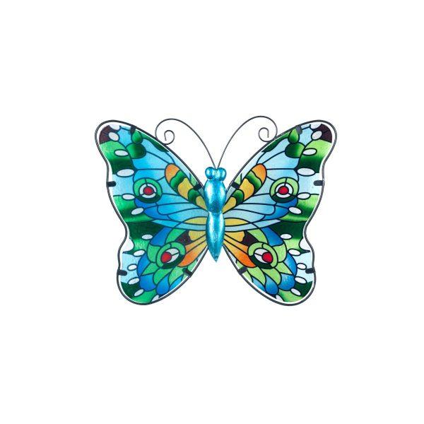vlinder glas l blauw