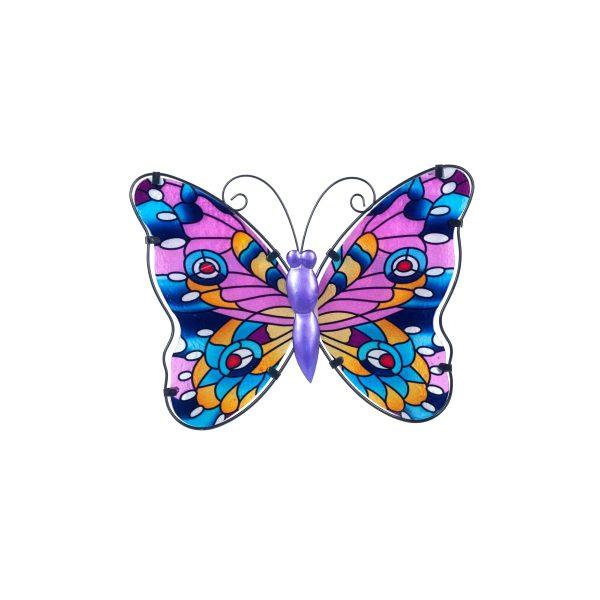 vlinder glas l paars
