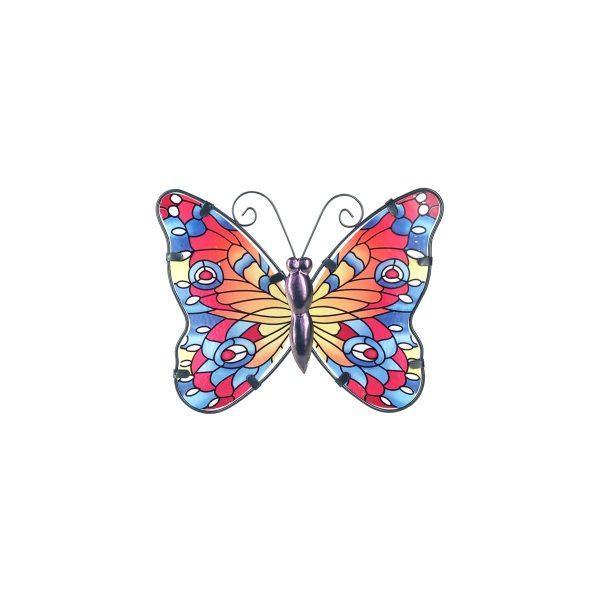 vlinder glas l rood