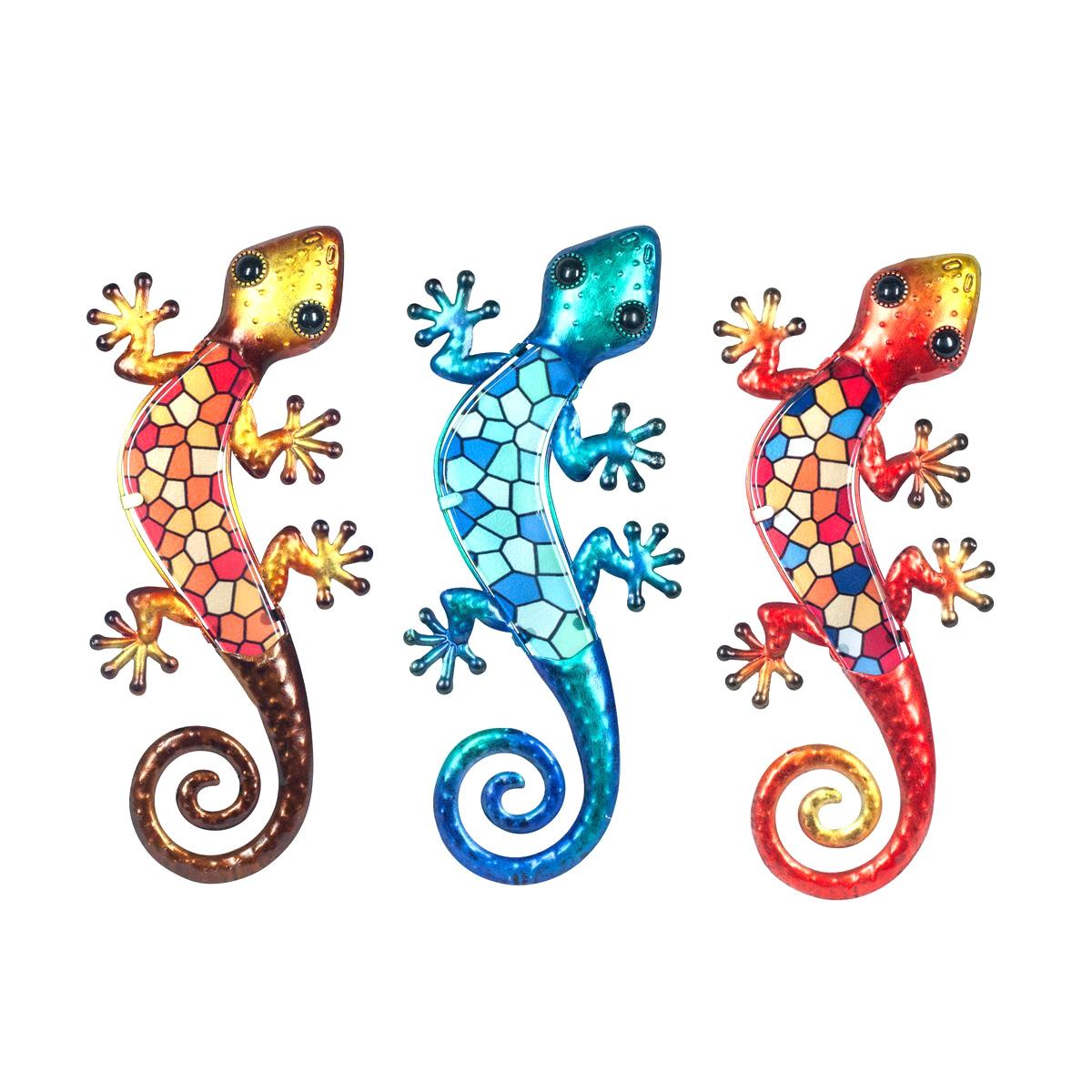 salamander mozaiek l oranje blauw rood