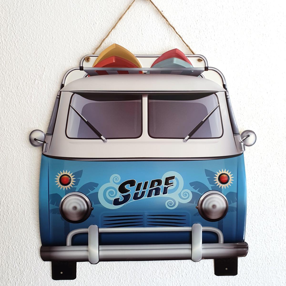 metalen camper surf decoratie binnen