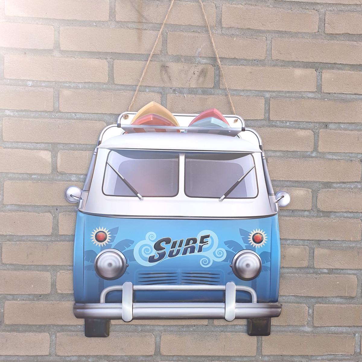 metalen camper surf decoratie buiten