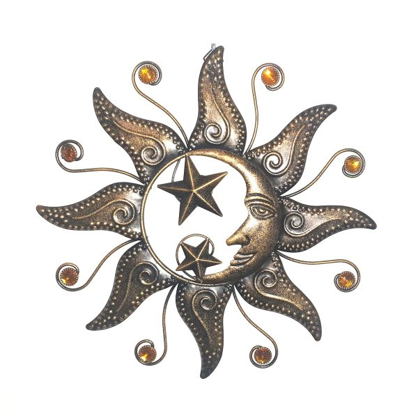 zon maan zilver goud foto