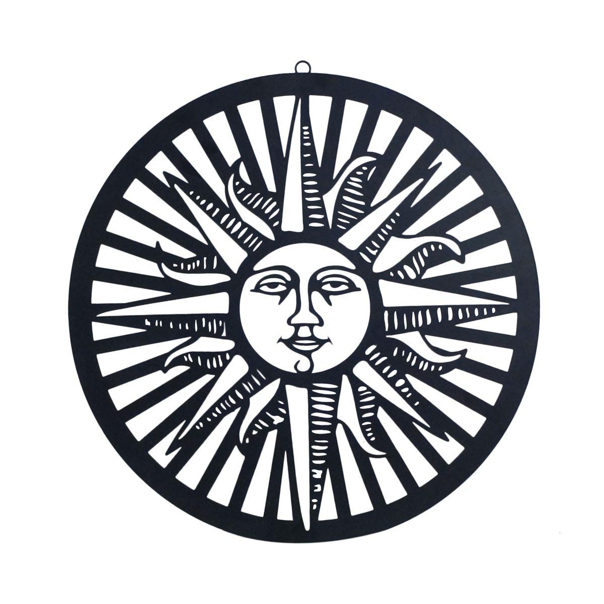 zon cirkel straal wanddecoratie 60cm