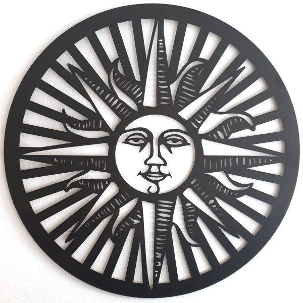 zon cirkel straal 60cm xl wanddecoratie ornament
