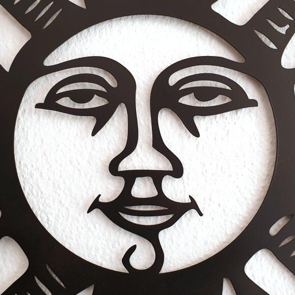 zon ornament binnen of buiten antractiet donker metaal decoratie