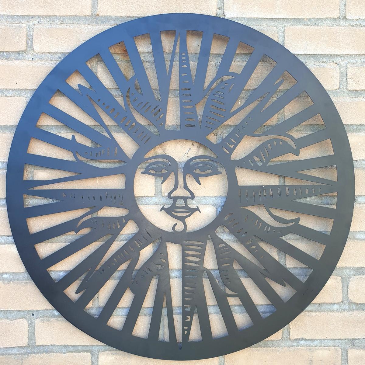 zon ornament binnen of buiten antractiet donker metaal